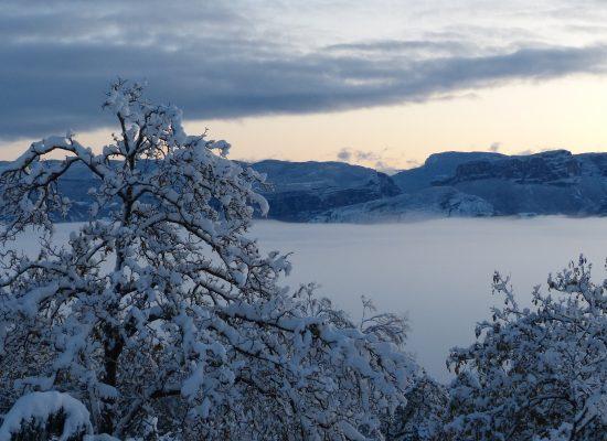 Vue hivernale sur le Vercors depuis Rochechinard